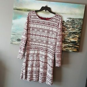 Aztec style print tunic dress